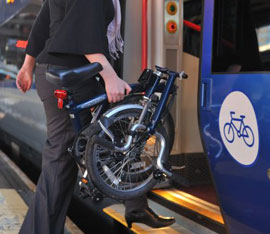 Usare la bicicletta col treno